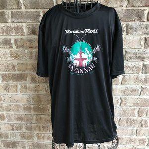 Savannah GA Half Marathon T Shirt Forsyth Fountain
